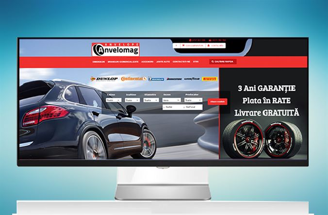 From the Creative Ones portfolio - Anvelomag.ro, the online tire store