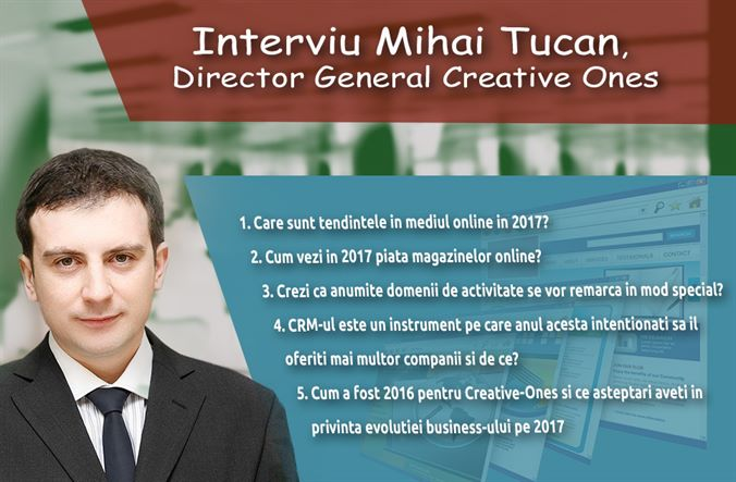 Interviu Mihai Tucan, Director General, Owner & Founder Creative Ones