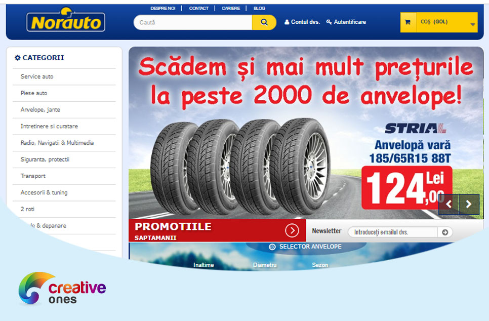 From Creative Ones Portfolio: www.norauto.ro a success story