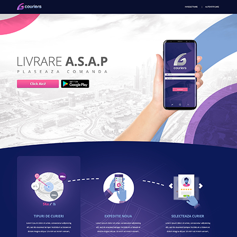 Creare site / Creare aplicatie – G couriers
